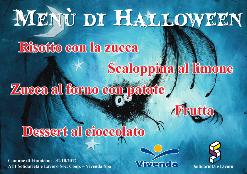 Menù Halloween Fiumicino 2017
